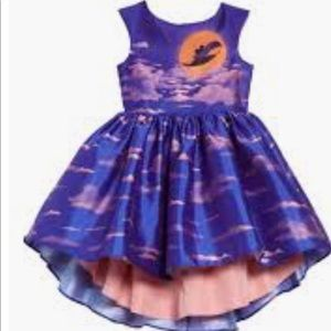 PIPPA&JULIE DISNEY BLUE HIGH LOW GIRL DRESS